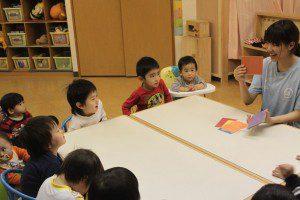 子供立ちの授業中の風景